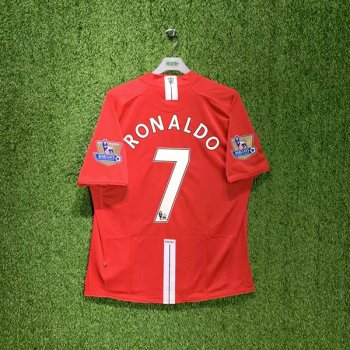 Nike Manchester United 07/09 (H) S/S 237924-666 with #7 RONALDO & EPL Champions Badge