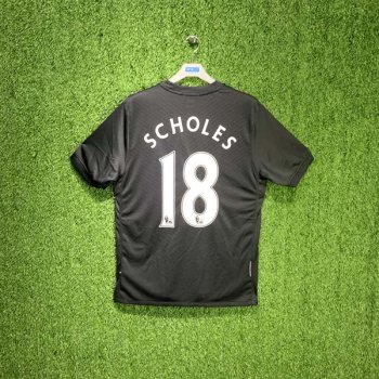 Nike Manchester United 09 (A) S/S 355093-101 with #18 SCHOLES