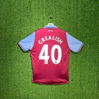 Macron Aston Villa 15/16 (H) S/S  With Nameset(#40 GREALISH)