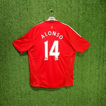 Adidas Liverpool FC 08/10 S/S With Nameset(#14 ALONSO)