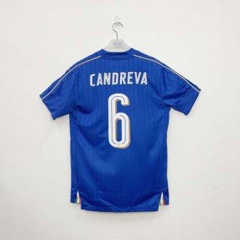 PUMA FIGC ITALIA 16/17 (HOME) S/S JSY 748933-01 w/ NAMESET (#6 CANDREVA)