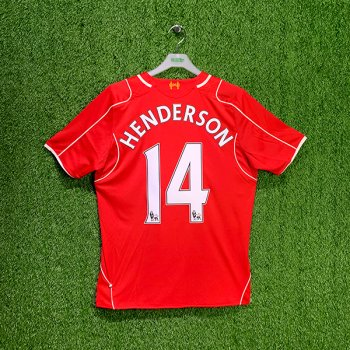 LIVERPOOL 14/15 (HOME) S/S JSY WSTM400 with NAMESET (#14 HENDERSON)