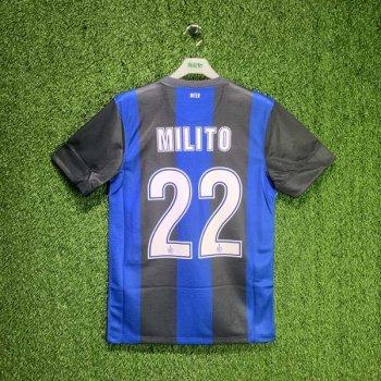 INTER MILAN 12/13 (HOME) S/S JSY 479315-010 w/ NAMESET (#22 MILITO)