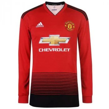 ADIDAS Manchester United 18/19 (H) L/S Jersey with printing