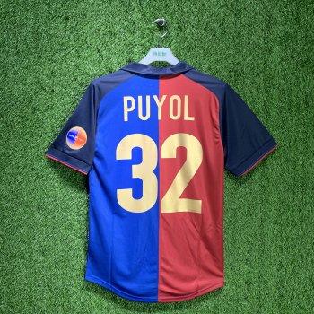 BARCELONA 99/00 Centenary Home Shirt w/ Nameset (#32 PUYOL)