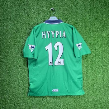 LIVERPOOL 99/00 (AWAY) S/S JSY 994283 w/ NAMESET (#12 HYYPIA) + EPL BADGE