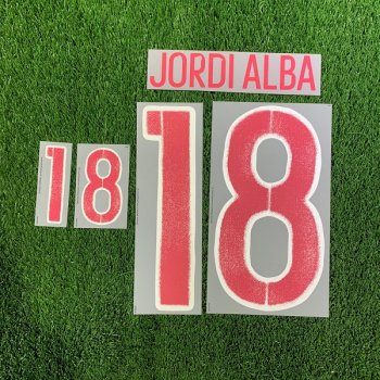 SPAIN 2016 (AWAY) RED #18 JORDI ALBA