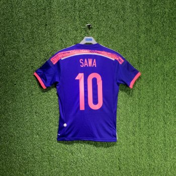 JAPAN WOMENS NATIONAL FOOTBALL TEAM 14 (HOME) S/S JSY G85290 w/ Nameset ( #10 SAWA)
