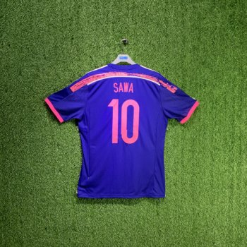 JASPO JAPAN WOMENS NATIONAL FOOTBALL TEAM 14/15 (HOME) S/S JSY G74538 w/ Nameset ( #10 SAWA)