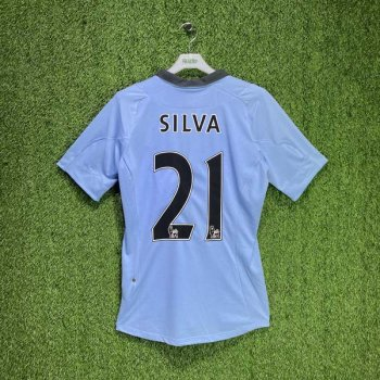 MAN CITY 12/13 (HOME) S/S JSY 73702U w/ NAMESET (#21 SILVA)