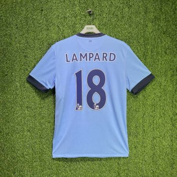 NIKE MAN CITY FC 14/15 (HOME) S/S STADIUM JSY 611050-489 w/ NAMESET (#18 LAMPARD)