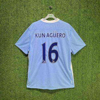 MAN CITY 11/12 (HOME) S/S JSY w/ NAMESET (#16 KUN AGUERO)