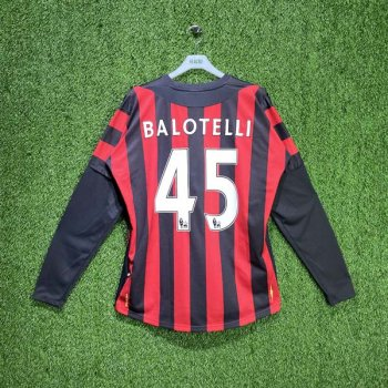 MAN CITY 11/12 (AWAY) L/S JSY 726827U w/ NAMESET (#45 BALOTELLI)