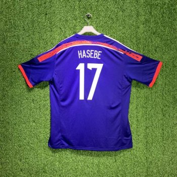 ADIDAS JAPAN 14 (HOME) S/S JSY w/ NAMESET (#17 HASEBE)