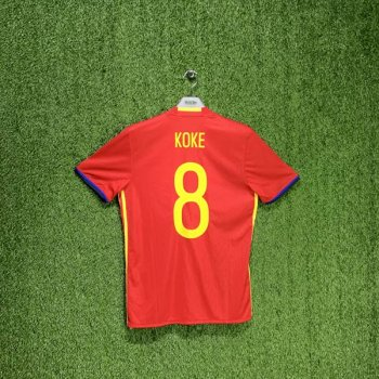 ADIDAS SPAIN 2016 (HOME) S/S JSY AI4411 w/ NAMESET (#8 KOKE)