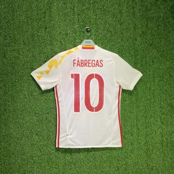 ADIDAS SPAIN 2016 (AWAY) S/S JSY AA0830 w/ NAMESET (#10 FABREGAS)
