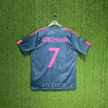 NIKE ATLETICO MADRID 17/18 (3RD) S/S 851468-426 w/ NAMESET (#7 GRIEZMANN)