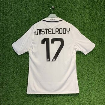 ADIDAS REAL MADRID 08/09 (HOME) S/S UEFA JSY 051101 w/ NAMESET (#17 v.NISTELROOY)