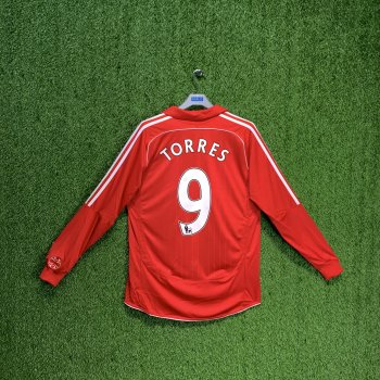 ADIDAS LIVERPOOL 06/08 (HOME) L/S JSY 053326 w/ NAMESET (#9 TORRES)