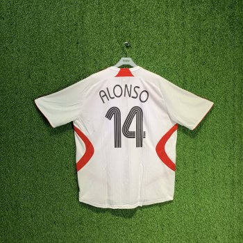 ADIDAS LIVERPOOL 07/08 (AWAY) S/S JSY 694745 w/ NAMESET (#14 ALONSO)
