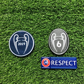 CHAMPIONS LEAGUE LIVERPOOL 2019 PATCH SET