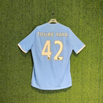 UMBRO MANCHESTER CITY 10/11 (HOME) S/S JSY 70471U w/ NAMESET (#42 TOURE YAYA)
