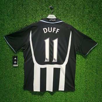 Adidas Newcastle United 07/08 (Home) S/S JSY 695512 w/ NAMESET (#11 DUFF)