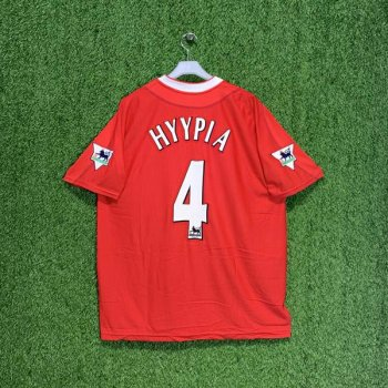 LIVERPOOL 02/03 (HOME) S/S JSY 224854 w/ NAMESET (#4 HYYPIA) + EPL BADGE