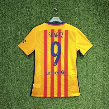 BARCELONA 15/16 (AWAY) S/S MATCH JSY 739659-740 w/ NAMESET (#9 SUAREZ)
