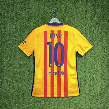 BARCELONA 15/16 (AWAY) S/S MATCH JSY 739659-740 w/ NAMESET (#10 MESSI)