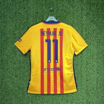 BARCELONA 15/16 (AWAY) S/S MATCH JSY 739659-740 w/ NAMESET (#11 NEYMAR JR)