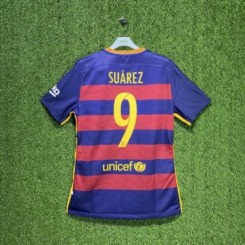 BARCELONA 15/16 (HOME) S/S MATCH JSY 658790-422 w/ NAMESET (#9 SUAREZ)