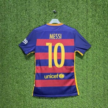 BARCELONA 15/16 (HOME) S/S MATCH JSY 658790-422 w/ NAMESET (#10 MESSI)
