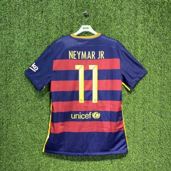 BARCELONA 15/16 (HOME) S/S MATCH JSY 658790-422 w/ NAMESET (#11 NEYMAR JR)