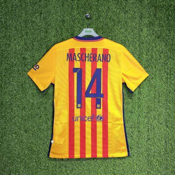 BARCELONA 15/16 (AWAY) S/S MATCH JSY 739659-740 w/ NAMESET (#14 MASCHERANO)