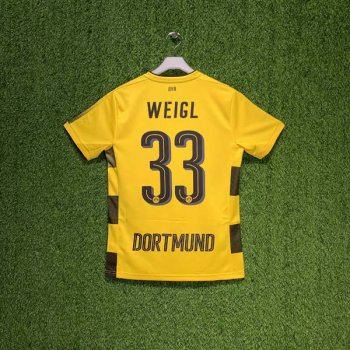 PUMA BVB 17/18 (HOME) S/S JSY 751670-01 w/ NAMESET (#33 WEIGL)