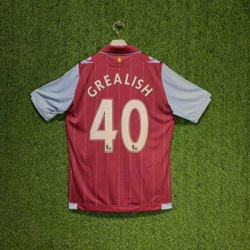 MACRON Aston Villa 14/15 (HOME) Shirt 920005 w/ NAMESET (#40 GREALISH)