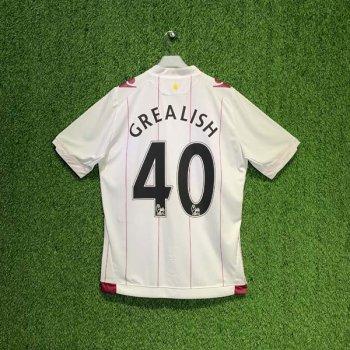 MACRON Aston Villa 14/15 (AWAY) S/S JSY 920051 w/ NAMESET (#40 GREALISH)