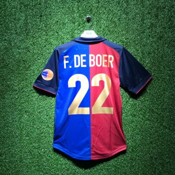 BARCELONA 99/00 Centenary Home Shirt w/ Nameset (#22 F. DE BOER)