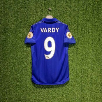 Leicester City 16/17 (HOME) S/S JSY 897472-01 w/ NAMESET (#9 VARDY) + EPL BADGE