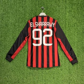AC MILAN 13/14 (HOME) L/S JSY G77261 w/ NAMESET (#92 EL SHARRAWY) + UCL BADGE