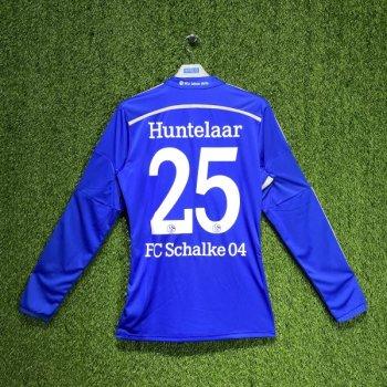Adidas Schalke 04 FC 14/15 (H) L/S F77263 with NAMESET (#25 Huntelaar )