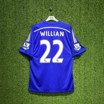 Adidas Chelsea 14/15 (H) S/S G92151 w/ Nameset (#22 WILLIAN) and EPL Badge