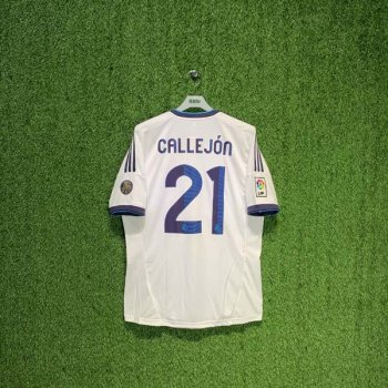 ADIDAS REAL MADRID 12/13 (HOME) S/S X21987 w/ NAMESET (#21 CALLEJON)