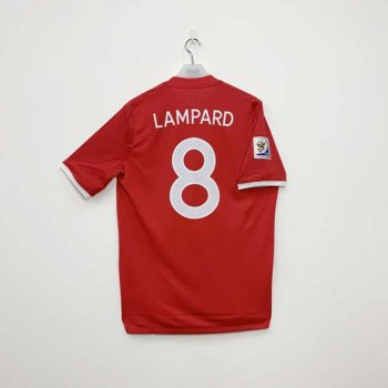UMBRO ENGLAND 2010 (A) SS with #8 LAMPARD nameset  w/ WC BADGE