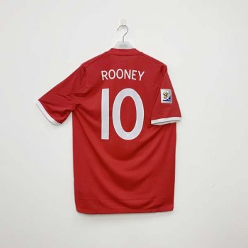 UMBRO ENGLAND 2010 (A)  SS with #10 ROONEY nameset  w/ WC BADGE