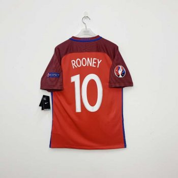 NIKE ENGLAND 2016 (A) SS Jersey with #10 ROONEY NAMESET + BADGE