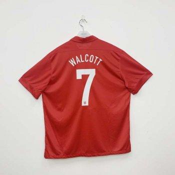 Nike National Team  2013 England (A) SS Jersey with #7 WALCOTT nameset