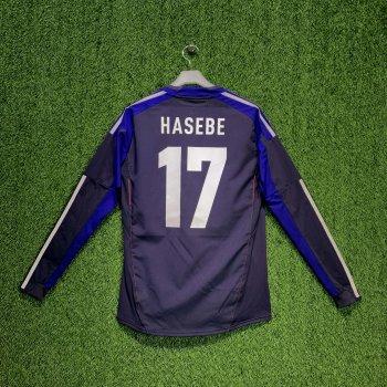 JAPAN 2012 (HOME) PLAYER L/S JSY X49696 w/ NAMESET (#17 HASEBE)