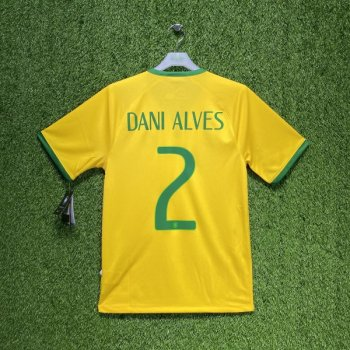 Nike National team 2014 World Cup Brazil (H)  with #2 DANI ALVES nameset